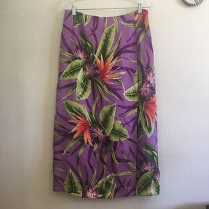 Worthington Silk Faux Wrap Skirt